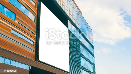 istock White billboard blank or large display on shopping mall 1148595606