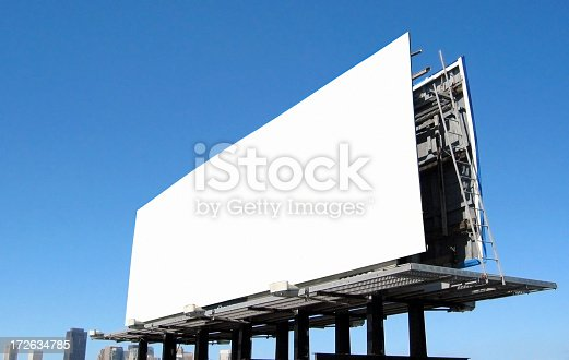istock White Billboard Sign 172634785