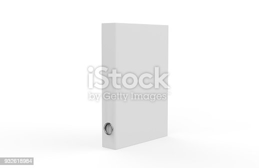 istock White binder on isolated white background, 3d illustration 932618984