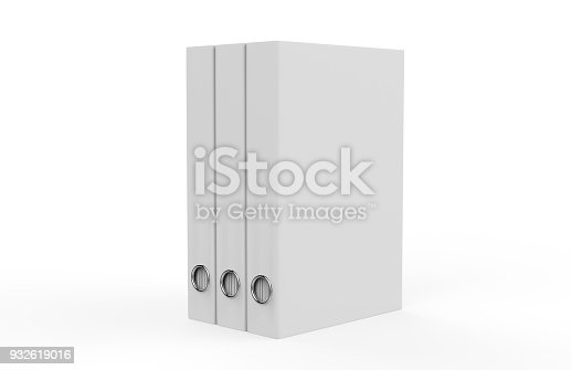 istock White binder on isolated white background, 3d illustration 932619016