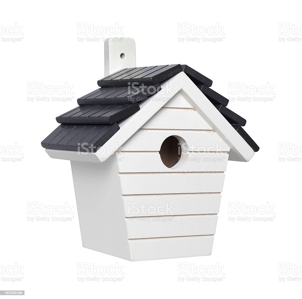 white bird box royalty-free stock photo