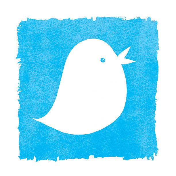 White Bird on Blue Painted Box Frame stock photo