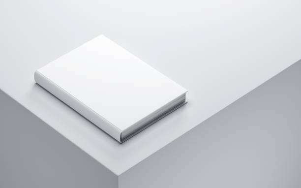 White Blank Book Mockup - foto stock