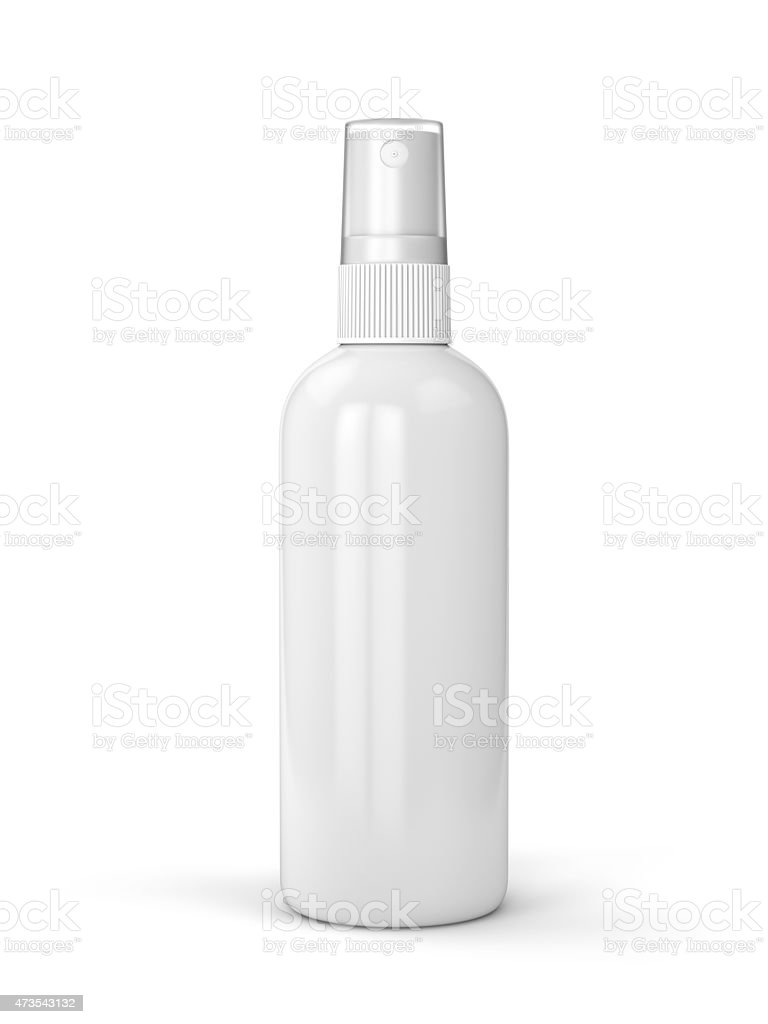 White blank bottle with white background stock photo