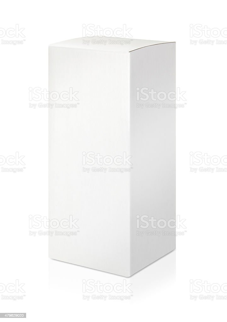 White blank box with empty space stock photo