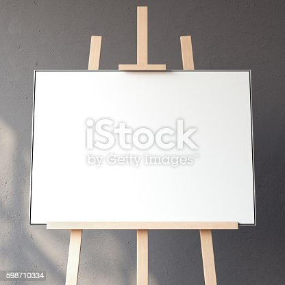 1021586250istockphoto White blank canvas. 3d rendering 598710334