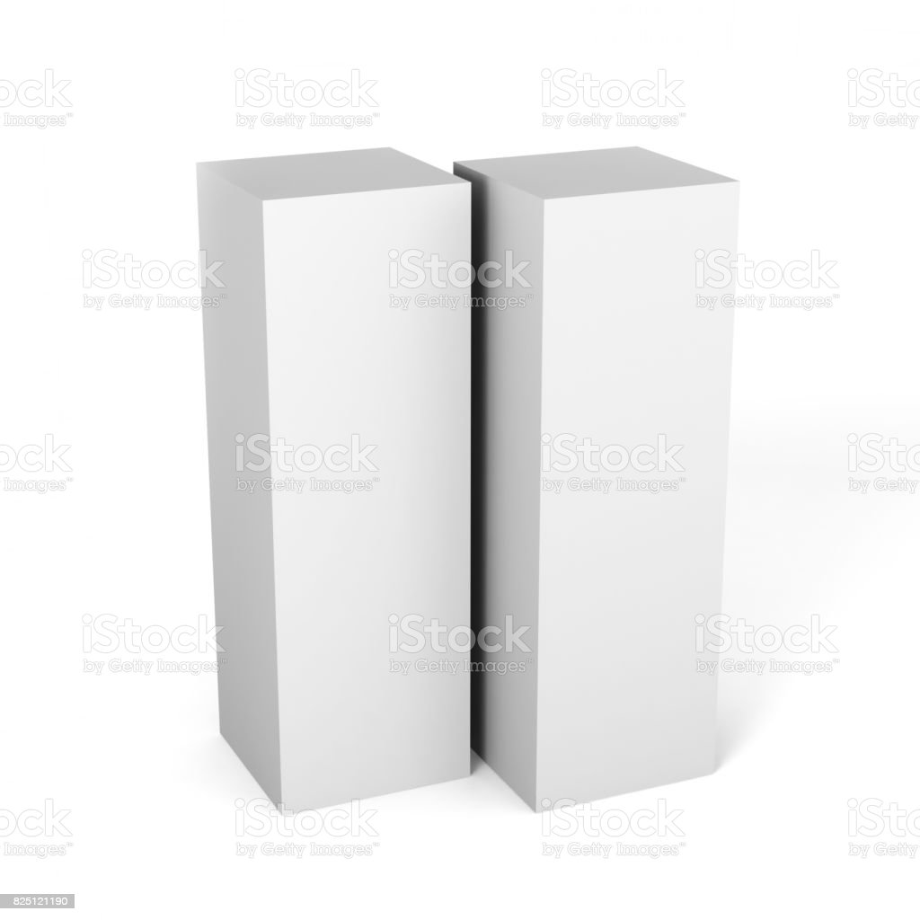 White blank cardboard packaging 3d box on white background for mock white blank cardboard packaging 3d box on white background for mock up and template design maxwellsz