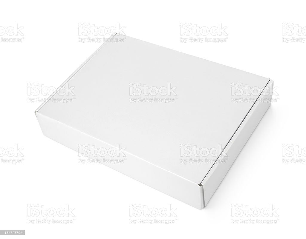 White blank carton pizza box stock photo