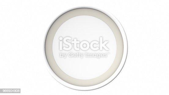 1144461291 istock photo White blank circle frame on white background. 3d rendering 966904908