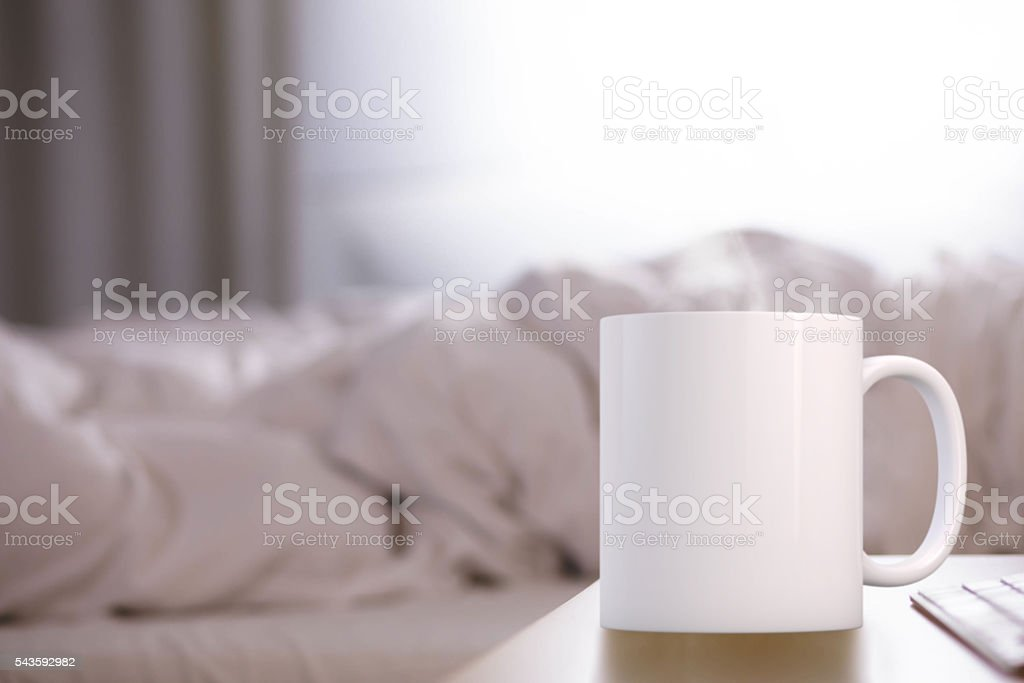 White blank coffee mug ready for your custom design/quote. stock photo