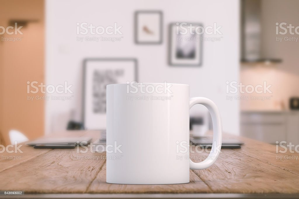 White blank coffee mug ready for your custom design/quote.