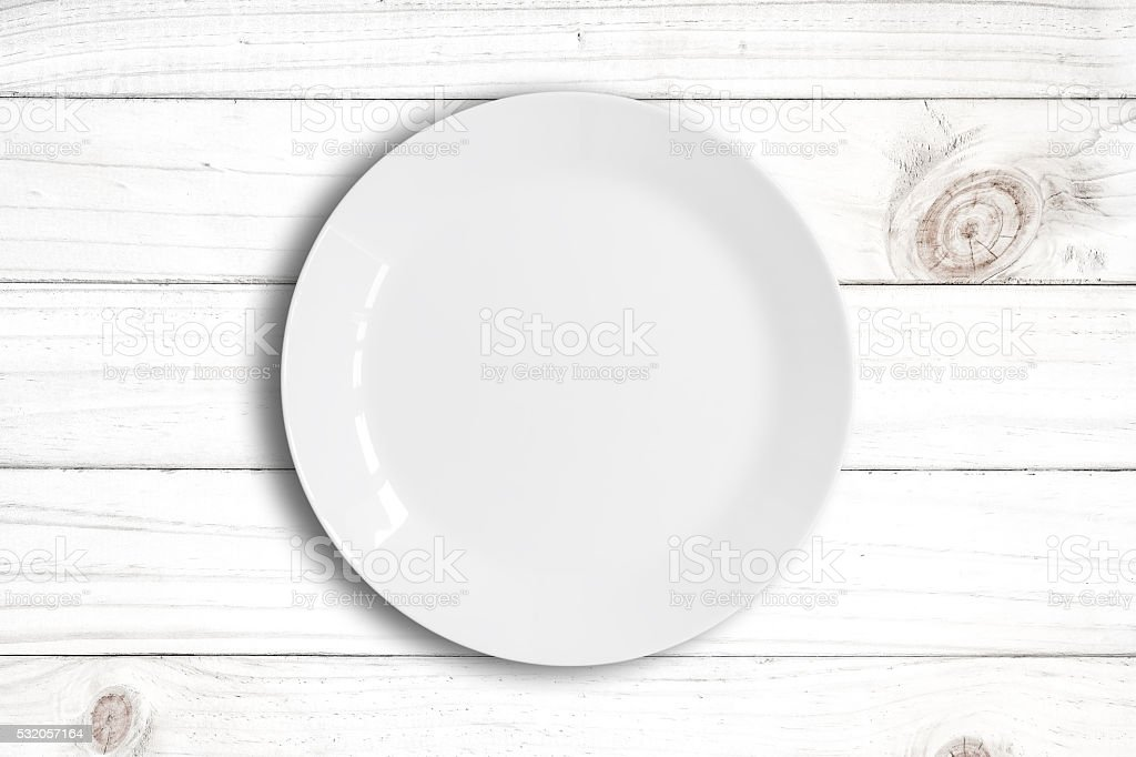White blank dish stock photo