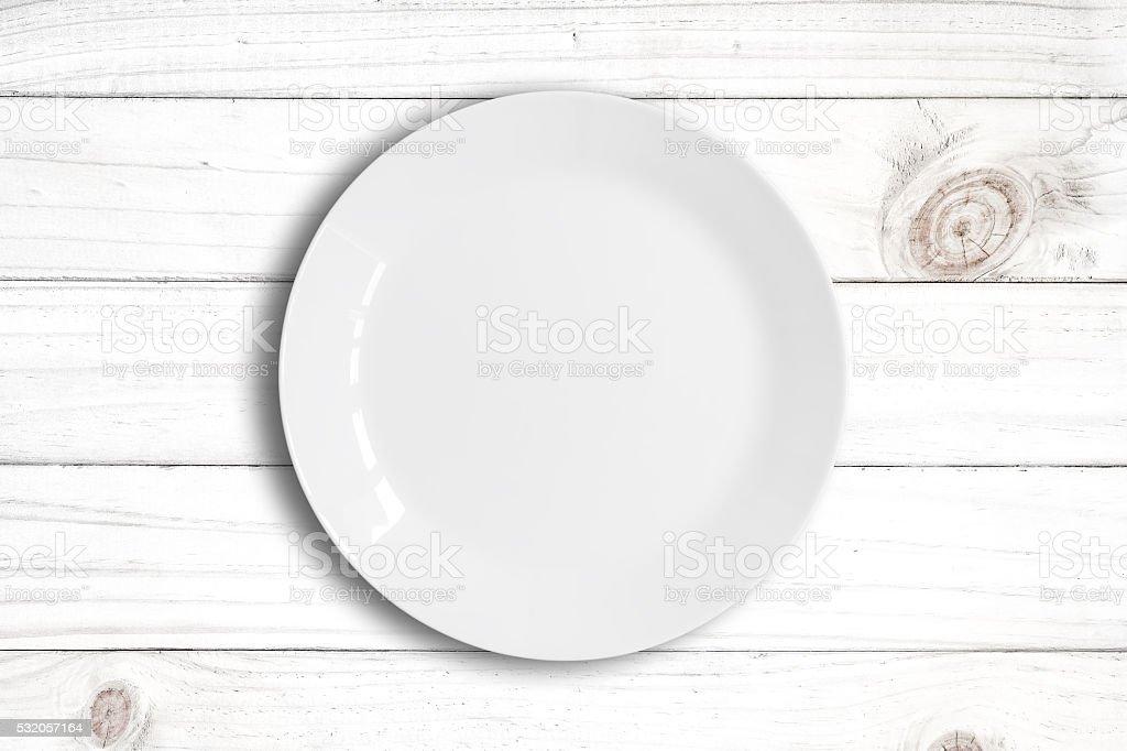Blanc vide plat - Photo