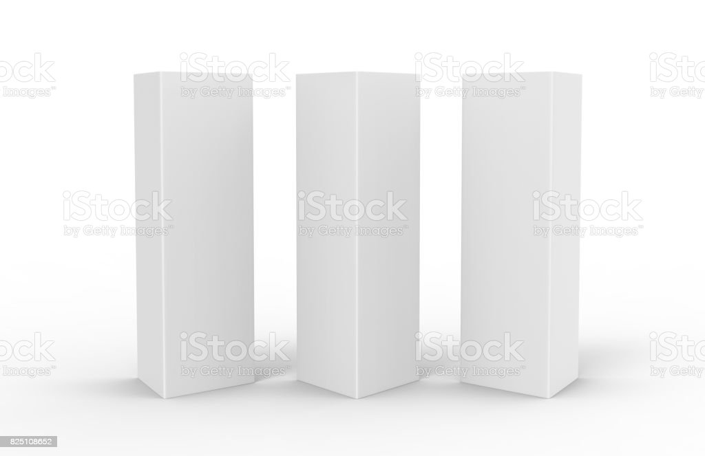 White Blank Empty Paper Tri Fold Table Tent Card Mock Up Template. 3d