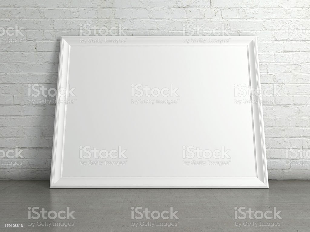 A white blank empty picture frame​​​ foto