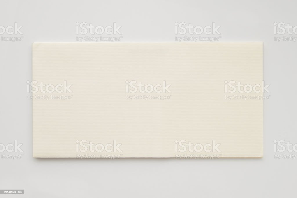 white blank envelope template isolated on white background stock
