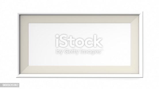 1144461291 istock photo White blank frame on white background. 3d rendering 966905062