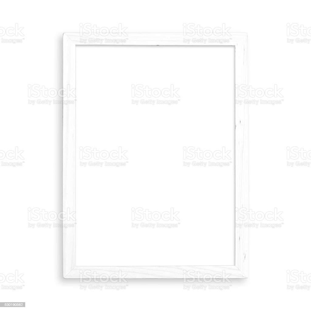 White blank frame stock photo