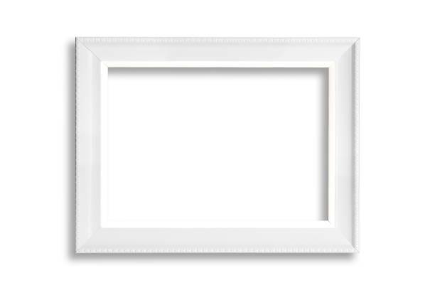 weiße leere rahmen - wandspiegel weiß stock-fotos und bilder