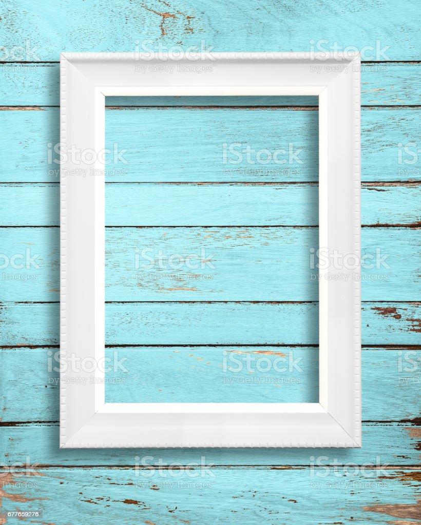 White blank Frame stock photo