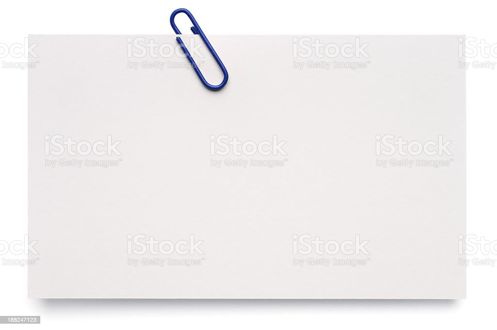 White blank index card stock photo