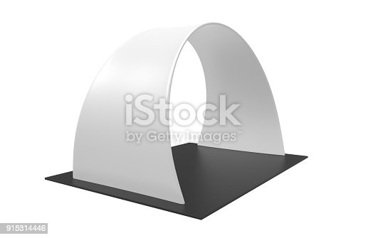istock White Blank Inflatable angular Arch Tube or Event Entrance Gate. 3d render illustration. 915314446