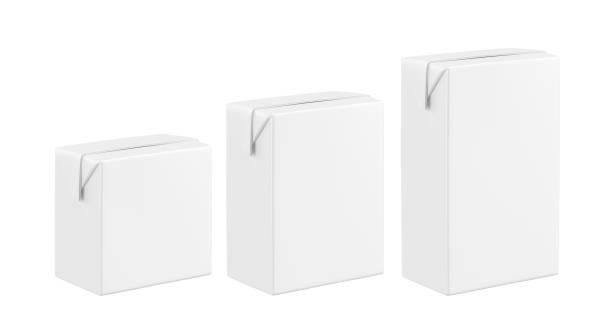 Boîte vide blanc lait - Photo