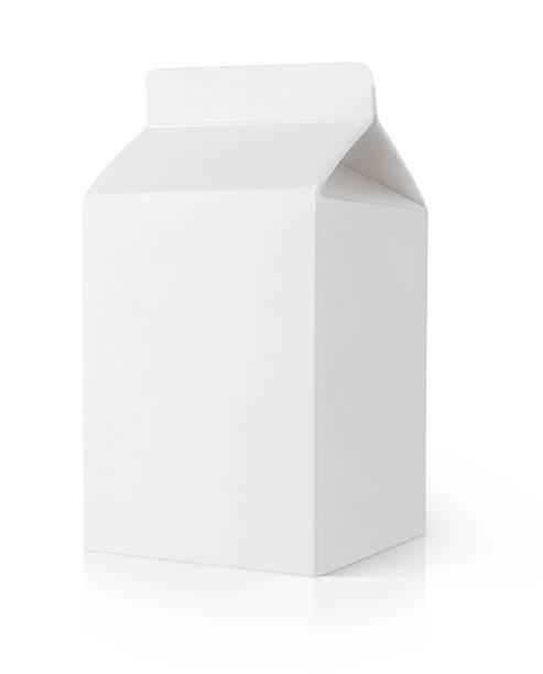 Formule carton de lait blanc vide - Photo