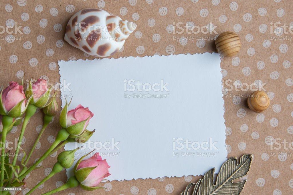 White blank note royalty-free stock photo