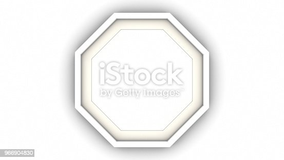 1144461291 istock photo White blank octagon frame and shadow on white background. 3d rendering 966904830