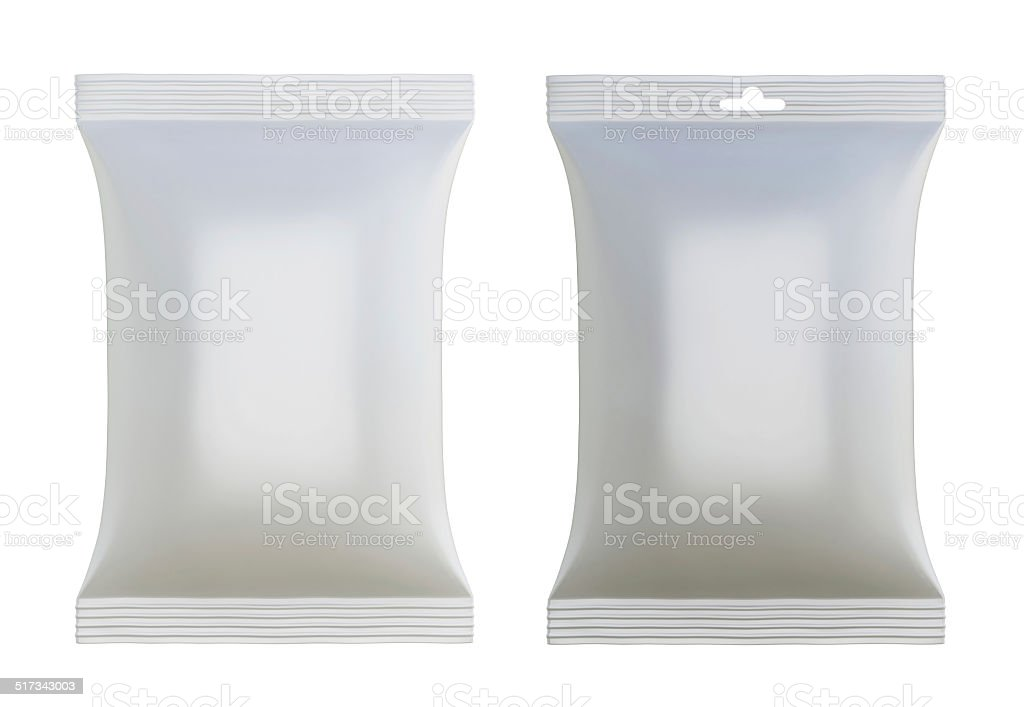White blank packages for design stock photo