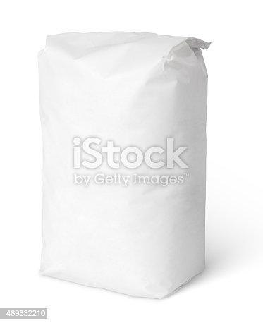 912671588istockphoto White blank paper bag package of salt 469332210