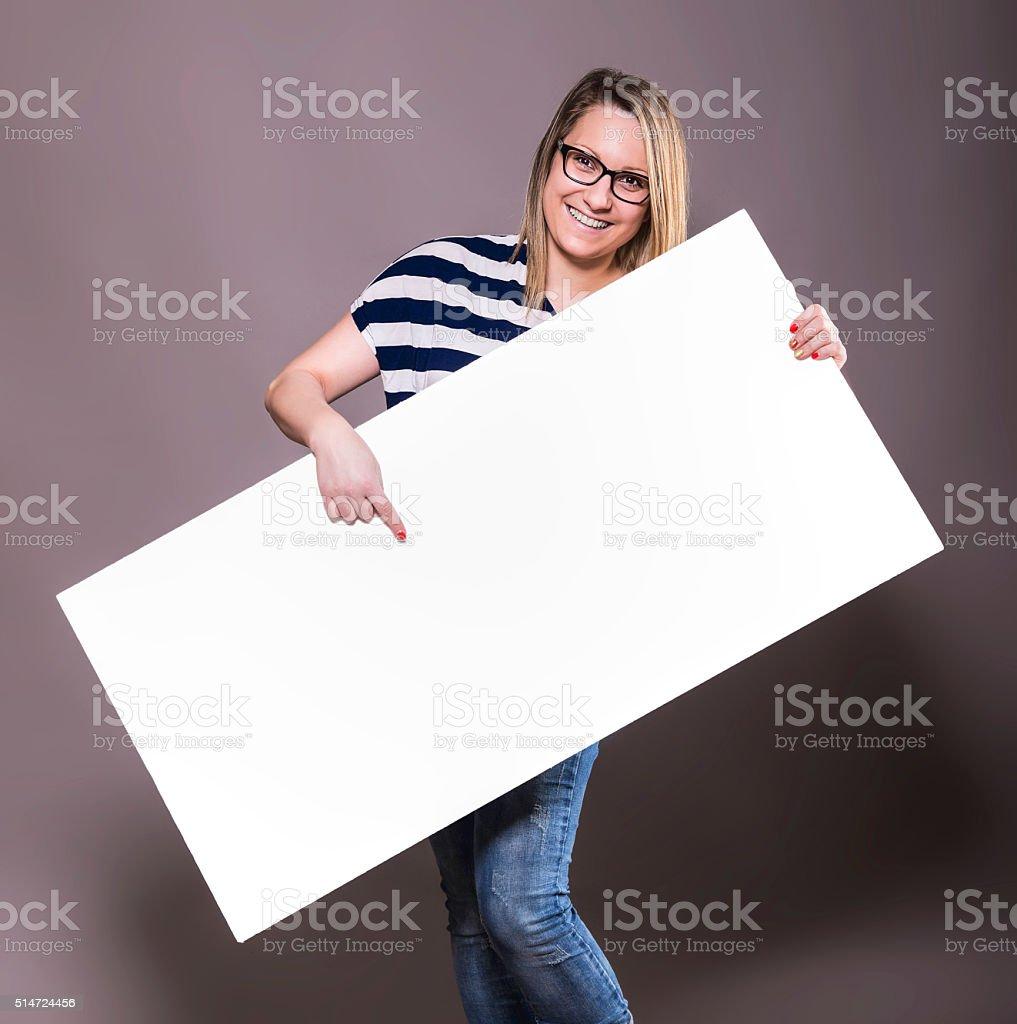 White blank paper. stock photo