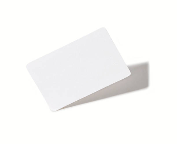 white blank paper - gift voucher or card stock photos and pictures