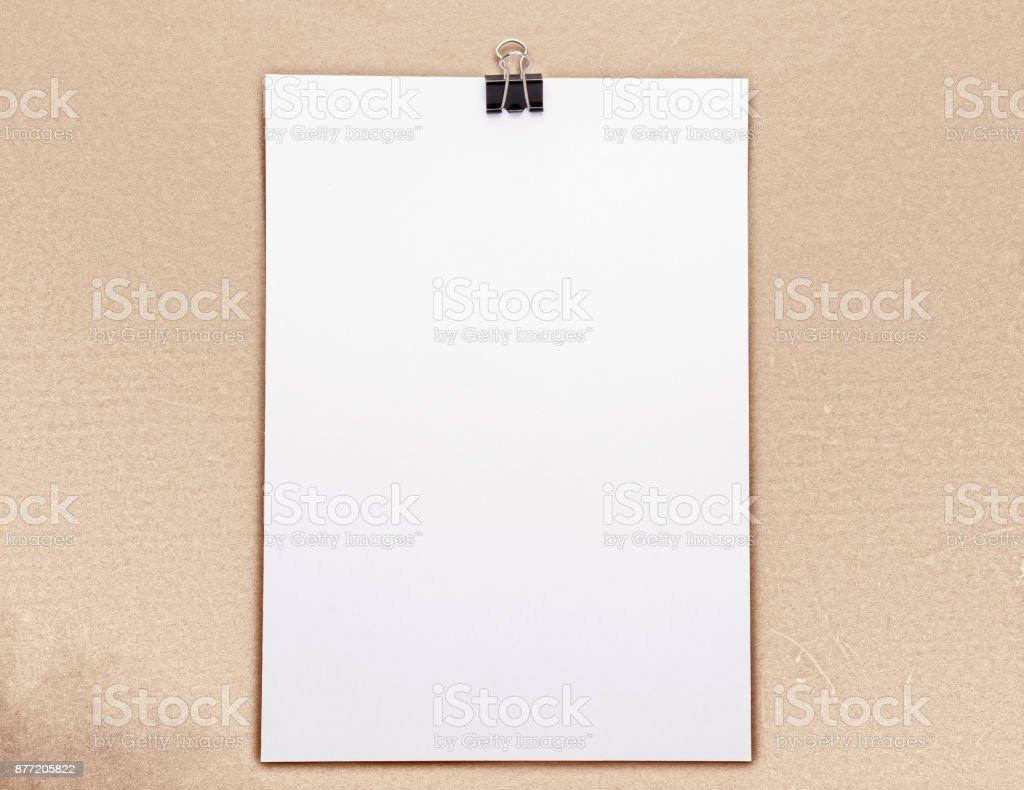 White Blank Paper stock photo
