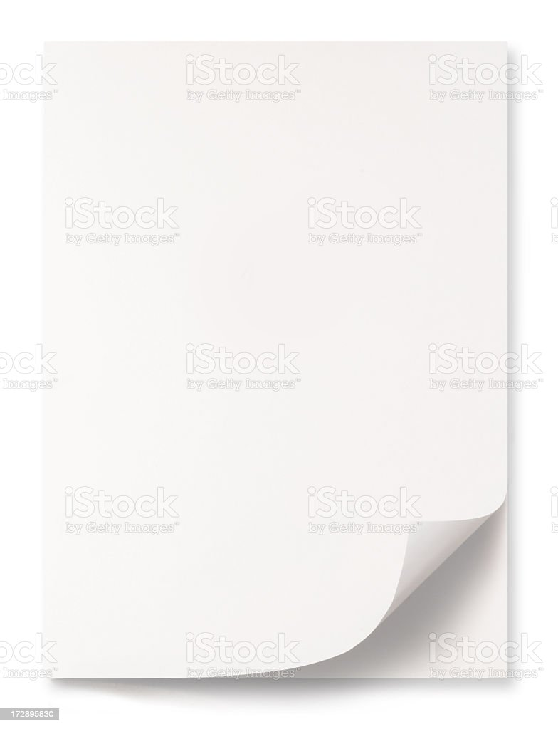 White blank paper sheets on a white background royalty-free stock photo
