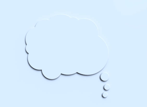 white blank paper speech bubble white blank paper speech bubble thought bubble stock pictures, royalty-free photos & images