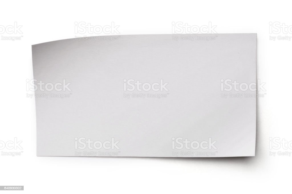 White blank sheet of paper for correspondence isolated on white background stock photo