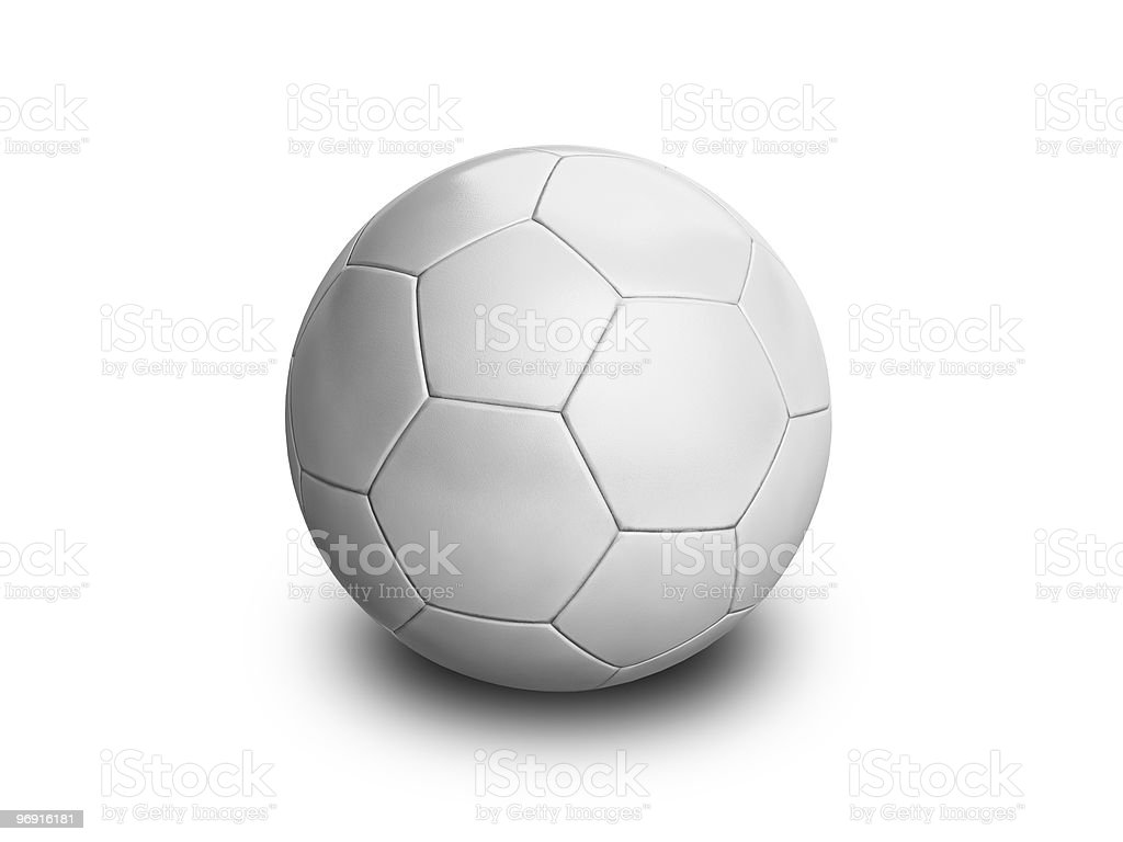 White blank Soccer Ball royalty-free stock photo
