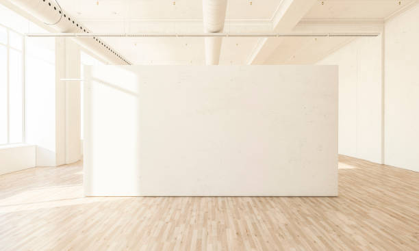 white blank space at hall stock photo