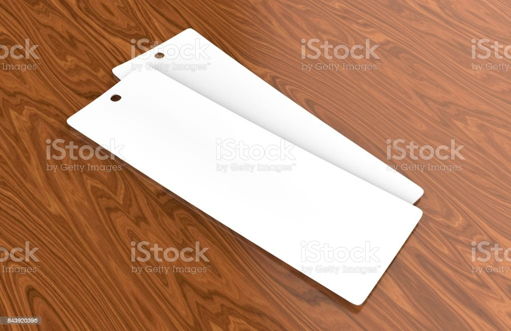 White Blank Tag Or Label And Bookmark Or Bookmarker For Template ...