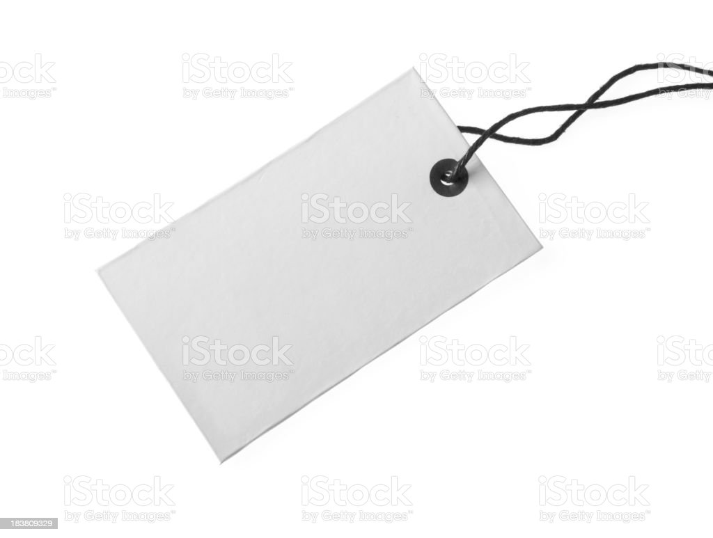 White blank tag royalty-free stock photo