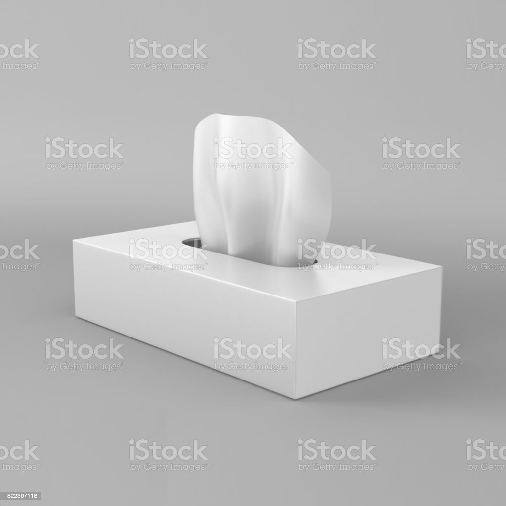 Download White Blank Tissue Box On Grey Background For Print Design ...