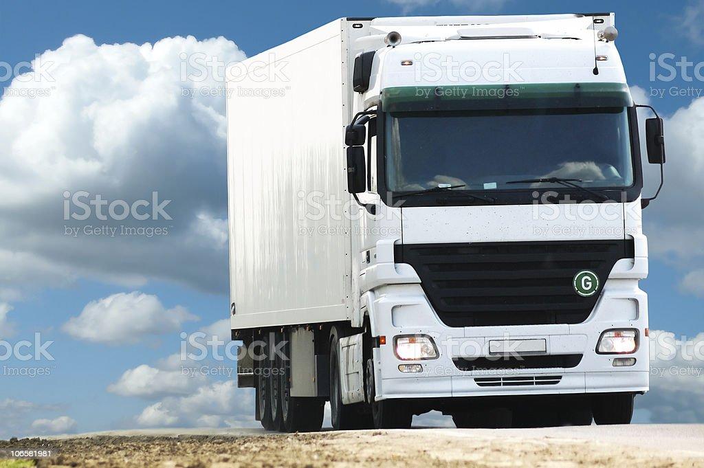 white blank truck royalty-free stock photo