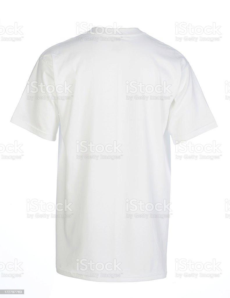 White blank tshirt backisolated on white stock photo for White blank t shirt