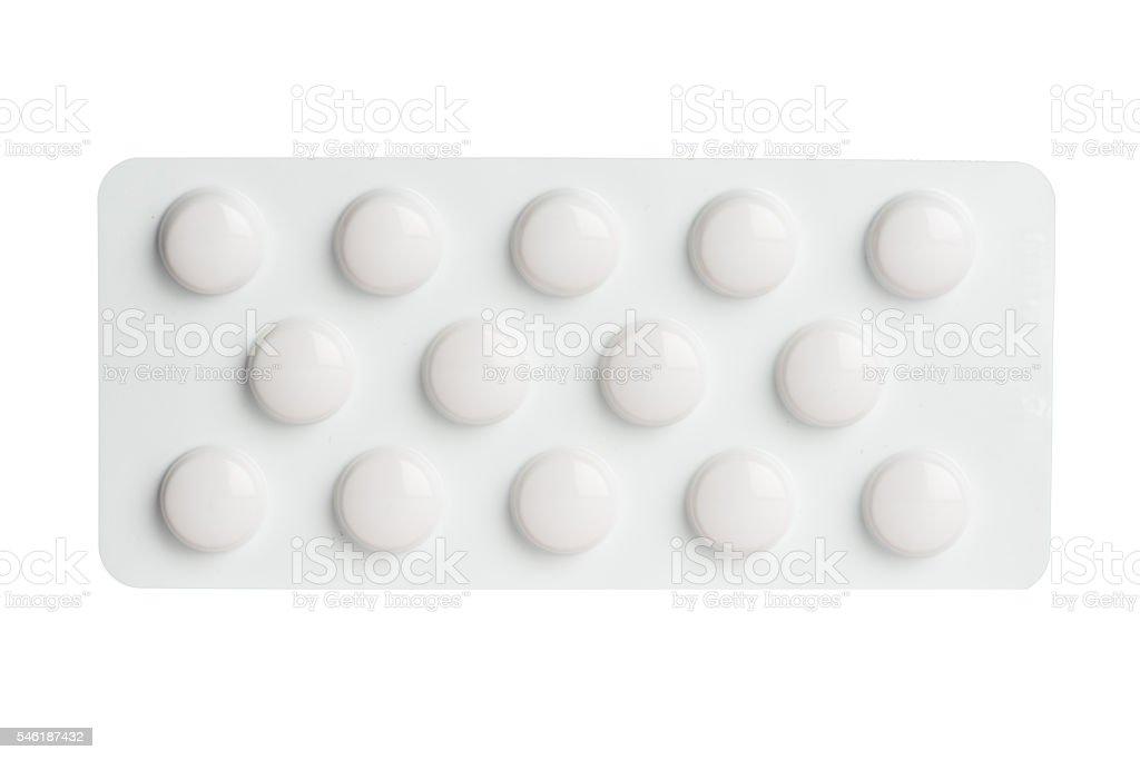Blanco Paquete de blíster - foto de stock