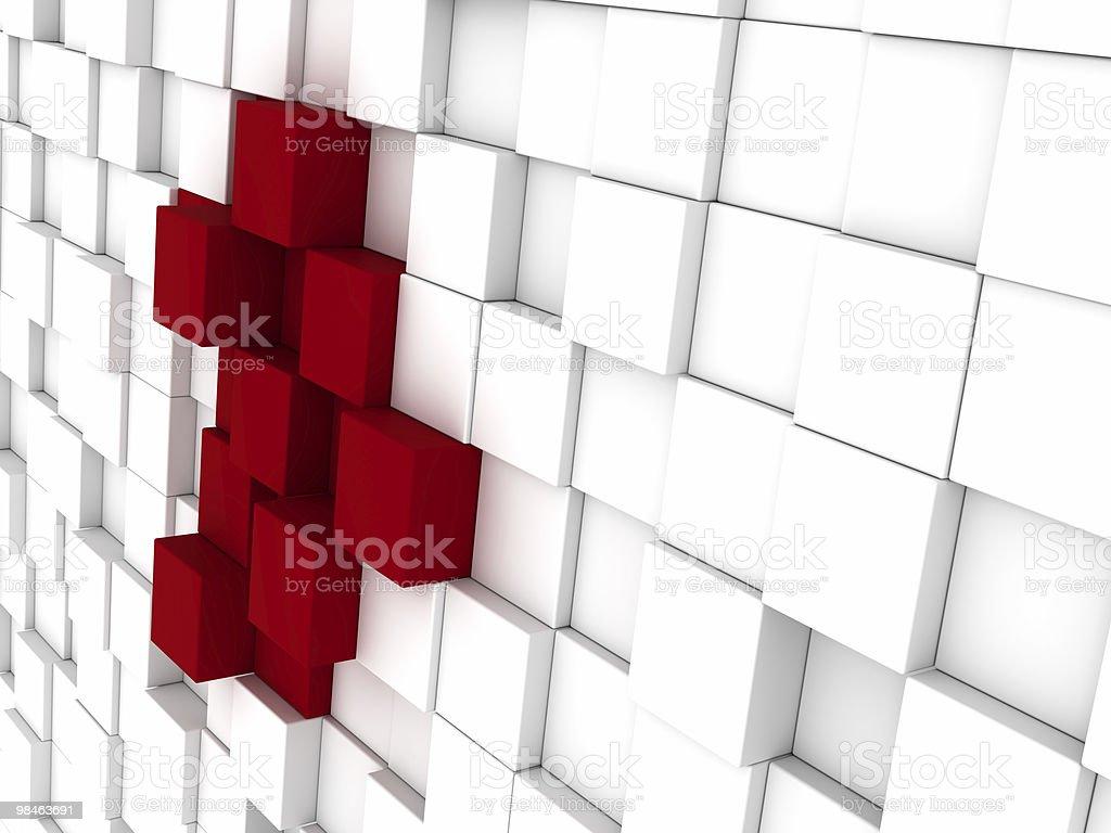 White isolati sfondo con alcuni rosso foto stock royalty-free