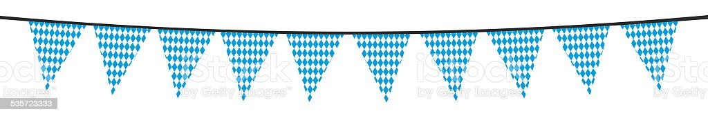 White blue bavarian party pennant stock photo