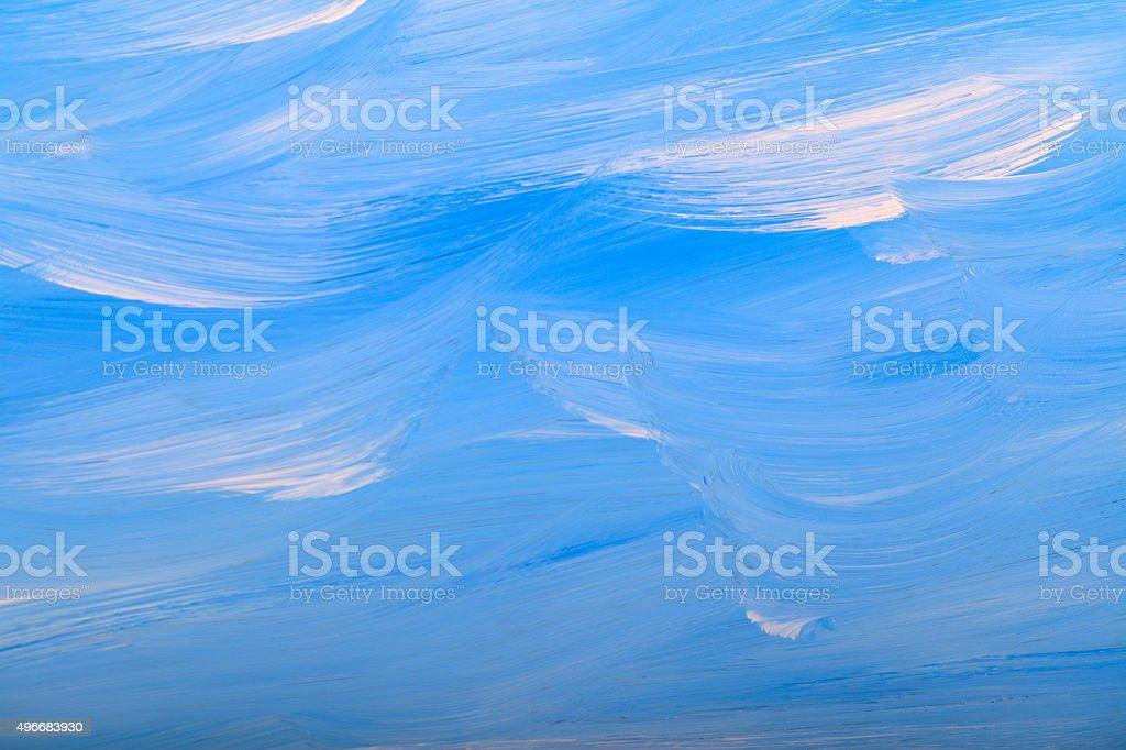 White Blue Paint Mixed Clouds Sky Vibrant Colour stock photo