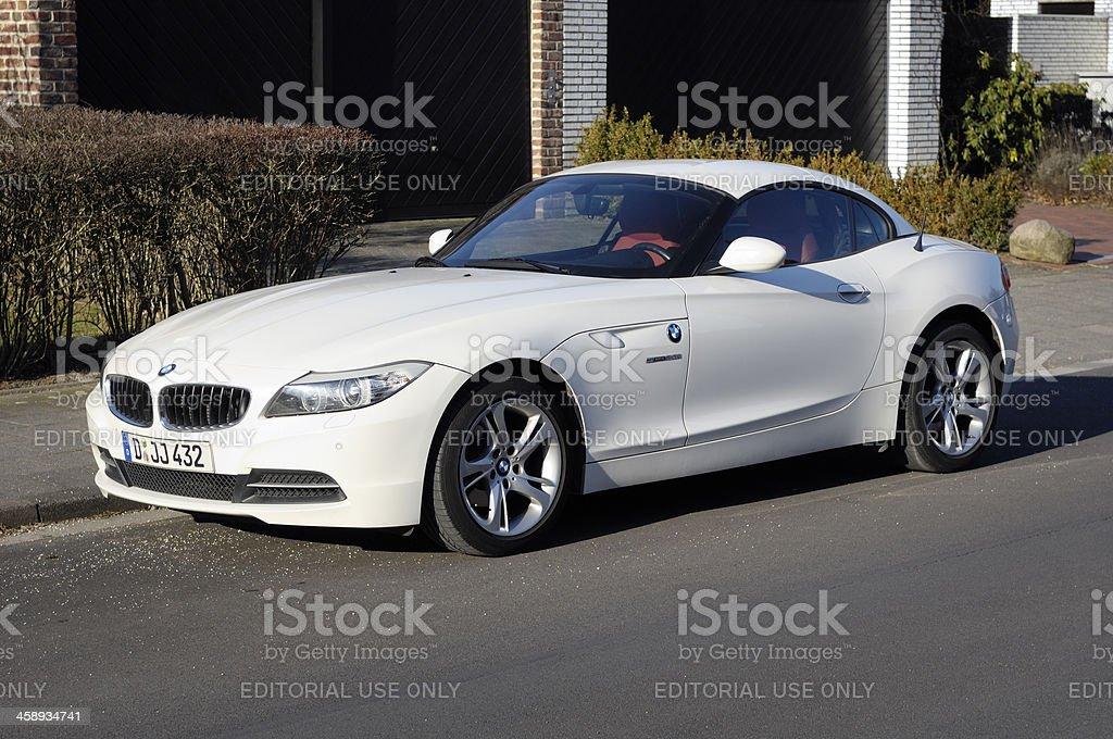White BMW Z4 Sports Car Royalty Free Stock Photo